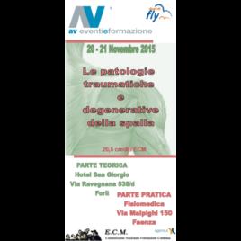 Le patologie traumatiche e deg. della spalla – Faenza e Forlì – 20/21 Novembre 2015