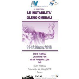 Le instabilità Gleno-Omerali – 11/12 Marzo 2016