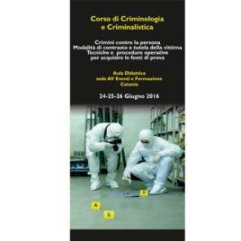 Corso di criminologia e criminalistica