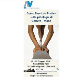 Corso Teorico-Pratico sulle Patologie di Gomito-Mano – 11-12 Giugno 2016