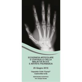 Ecografia Articolare e controllo della malattia in A.R. E Artrite Psoriasica <br>25 Giugno 2016