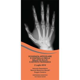 Ecografia Articolare e controllo della malattia in A.R. E Artrite Psoriasica <br>2 Luglio 2016