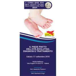 Il piede piatto dell'età evolutiva: diagnosi e trattamento <br>17 Settembre 2016