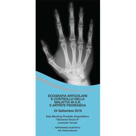 Ecografia Articolare e controllo della malattia in A.R. E Artrite Psoriasica <br>24 Settembre 2016