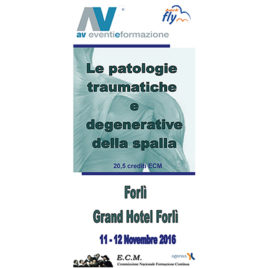 Le patologie traumatiche e degenerative della spalla <br>11-12 Novembre 2016