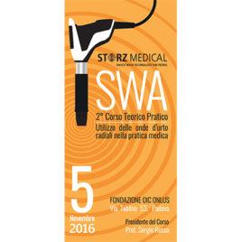SWA – 2° Corso Teorico-Pratico – Utilizzo delle onde d'urto radiali nella pratica medica <br>5 Novembre 2016