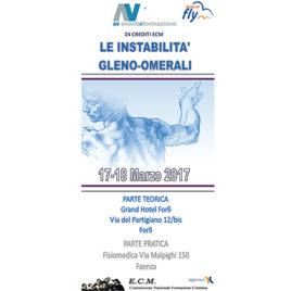 Le instabilità gleno-omerali <br>17-18 Marzo 2017