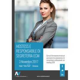 Hostess e Responsabile di Segreteria ECM <br>3 Novembre 2017