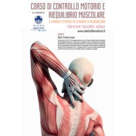 Corso di controllo motorio e riequilibrio muscolare <br>3-4 Marzo / 7-8 Aprile / 12-13 Maggio / 9-10 Giugno 2018