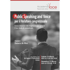 Public Speaking and Voice per il relatore congressuale <br>10-11 Marzo 2018