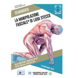 """Seminario """"La Manipolazione Fasciale"""" di Luigi Stecco <br>24 Novembre 2018"""