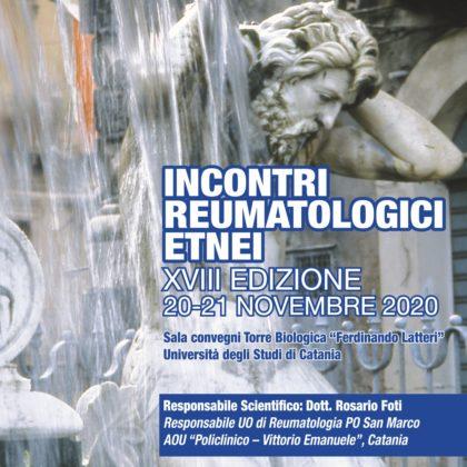Incontri reumatologici etnei e nuove guide sulle patologie reumatiche – XVIII edizione
