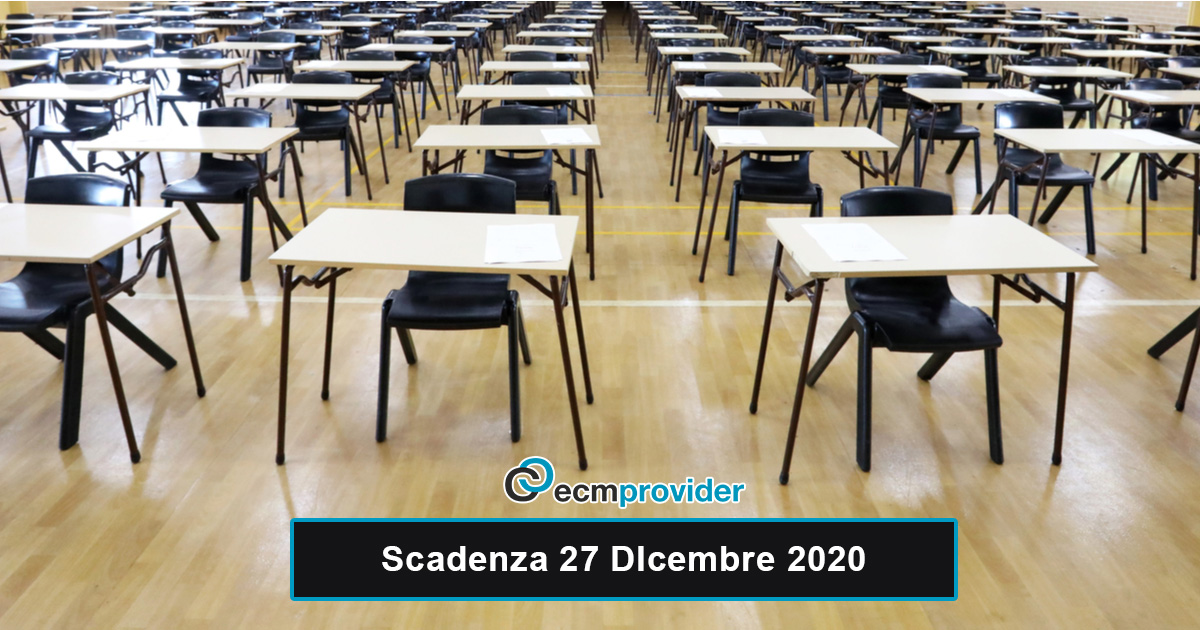scadenza concorsi 27 Dicembre 2020